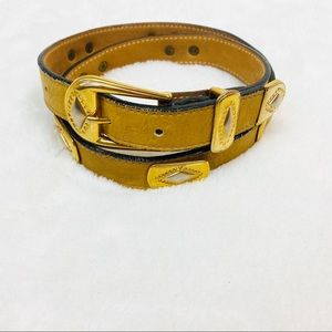 Streets Ahead Tribal Leather & Brass Metal Belt